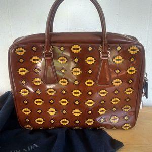 Prada Bags - Prada Spazzolatto Tobacco Fume Briefcase /Bag
